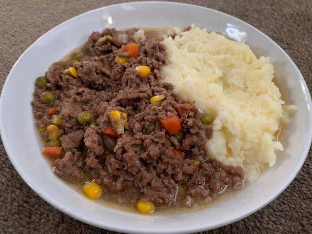 White Plate With Savoury Mince