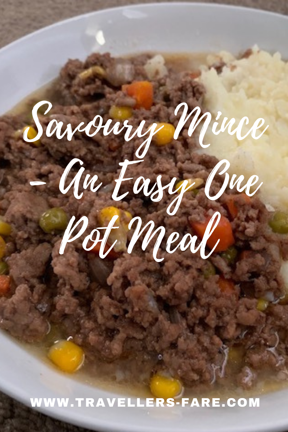 Savoury Mince On A White Plate PIN