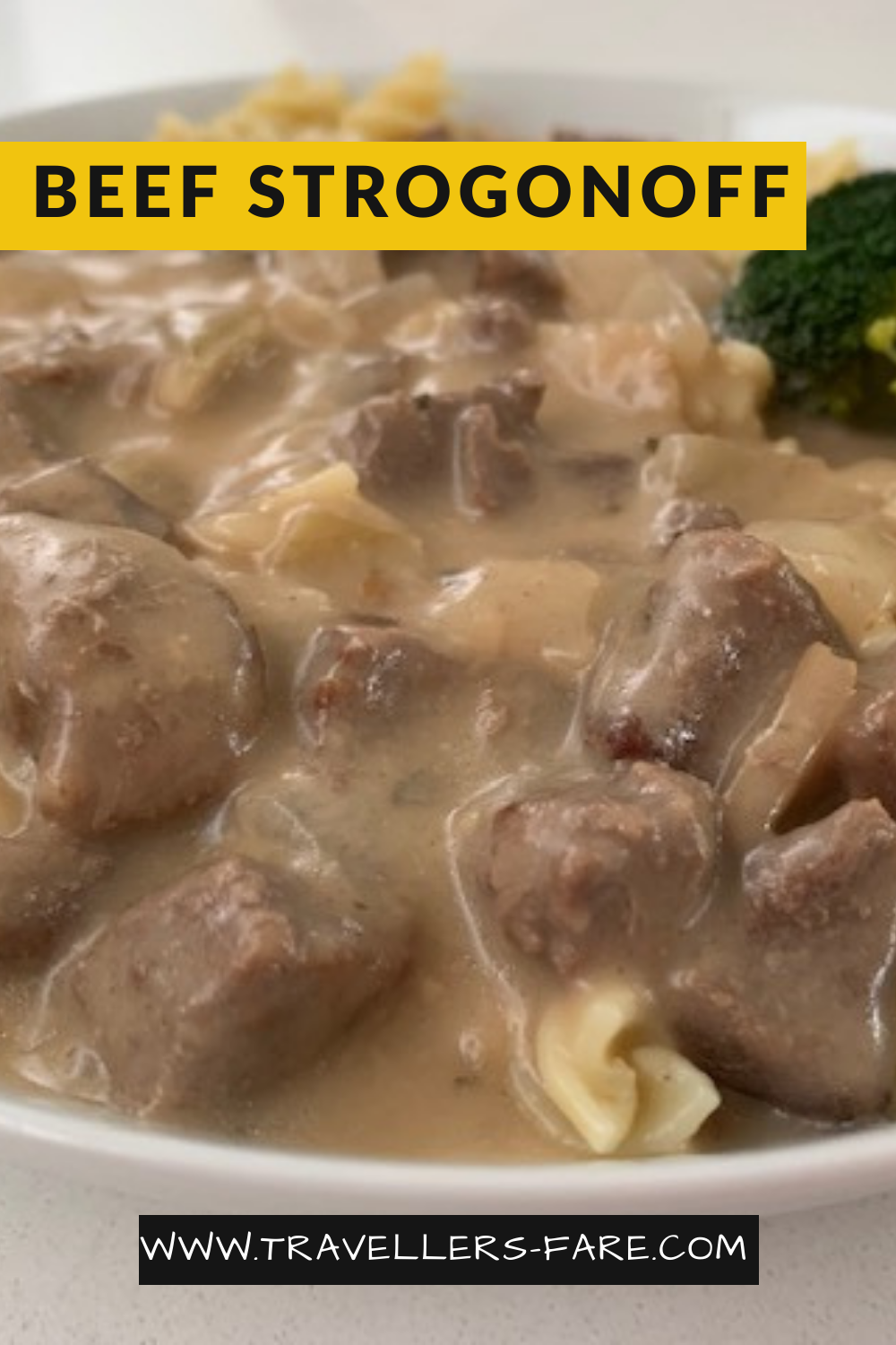 Beef Stroganoff Made From A Good Cut Of Beef Then Sautéed In Butter With Onion, Mushrooms, Paprika And Finally Sour Cream. Served on Rice Or Pasta.