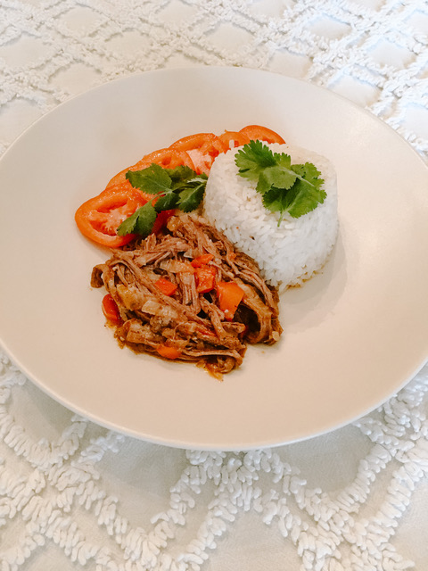Ropa Vieja Is One Of Cuba's Most Beloved National Dishes. It Is A Savoury Beef Dish Served With Rice.