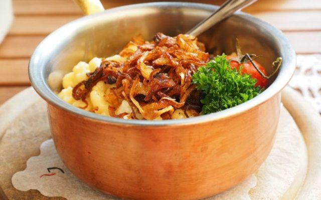Spatzle. A German Dish In A Bowl.