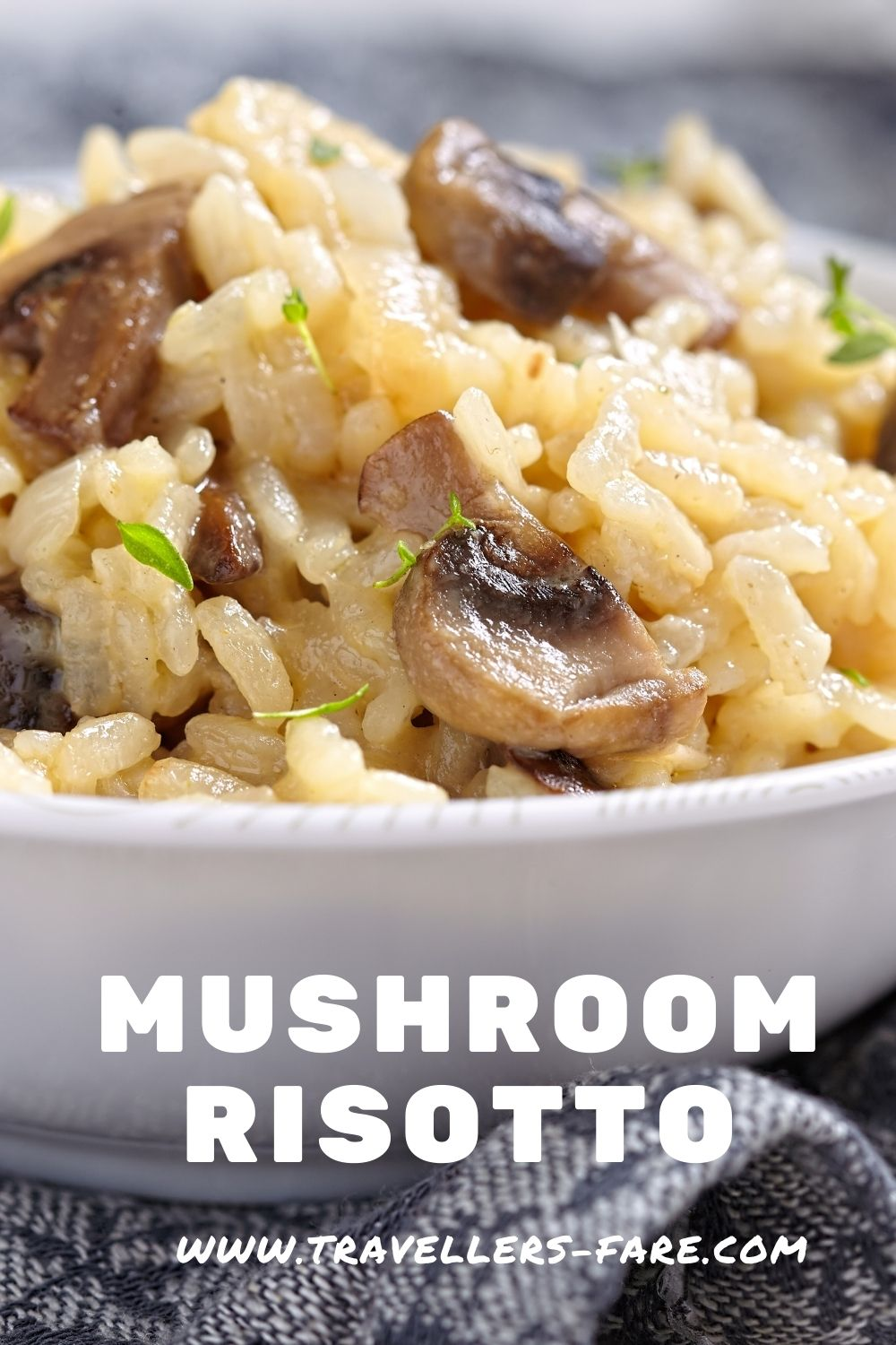 Mushroom Risotto Is Made From Arborio Rice, Mushrooms And Vegetable Stock. An Easy Risotto.