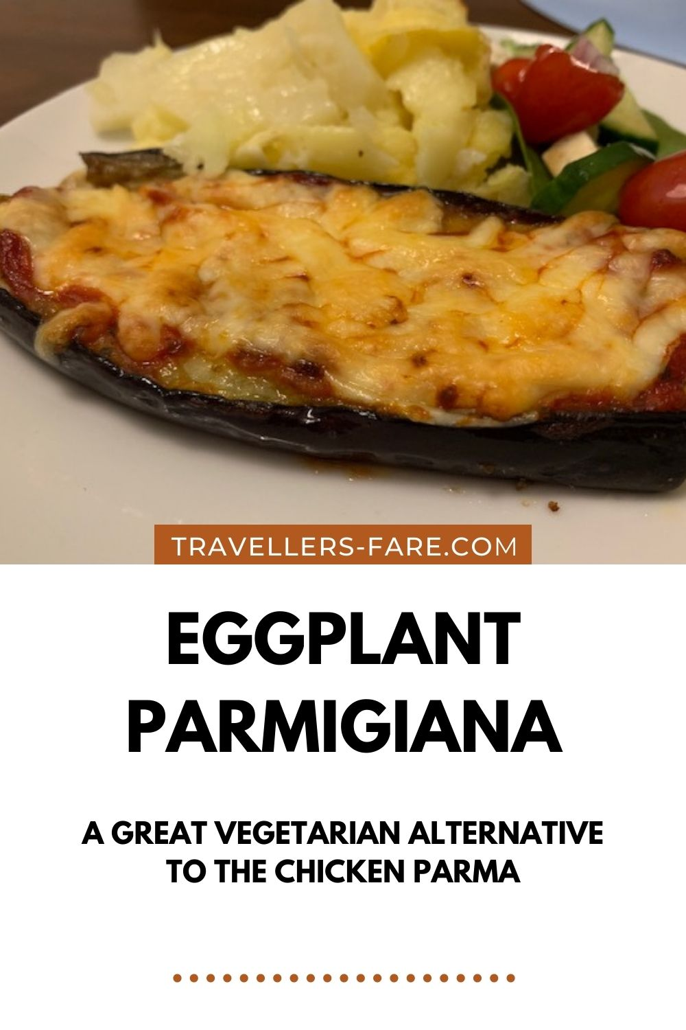 Eggplant Parmigiana (Parma) Is A Vegetarian Alternative To The Australian Classic Chicken Parma. Made From Eggplant, Tomato Sauce And Cheese.