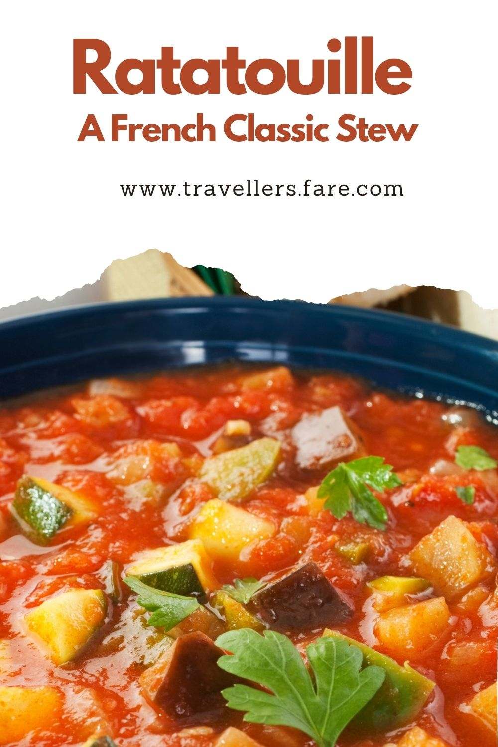 Ratatouille Is A French Classic Stew. Made From Eggplant, Peppers, Zucchini, Onion And Tomatoes.